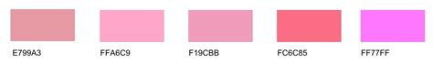 shades of pink pink tones list of different shades with names many