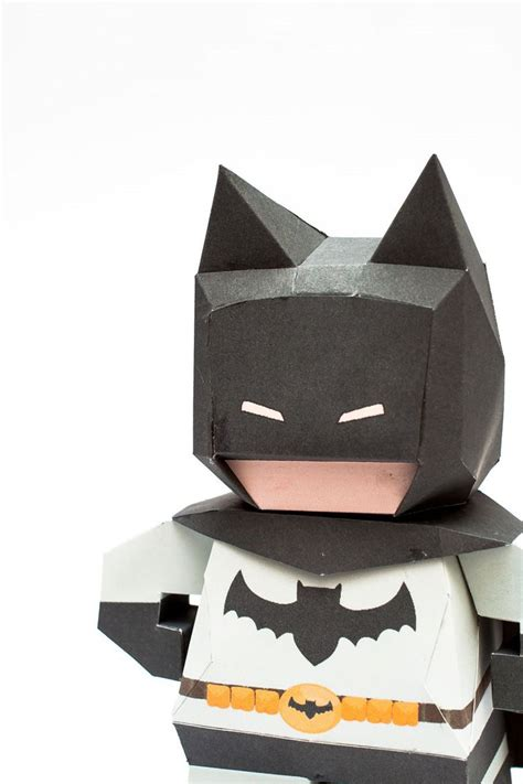 Papercraft Batman - 3d paper model illustration for teaching me