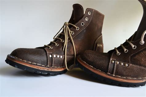 Mens Handmade Leather Boots - ankle boots handmade in curried leather by mdesignworkshop