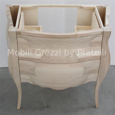 mobile bagno grezzo mobili bagno grezzi mobile bagno bombato grezzo massello