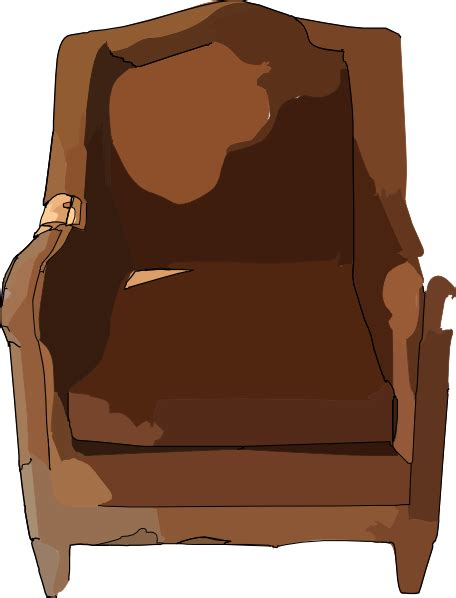 recliner clipart leather chair furniture clip art at clker com vector
