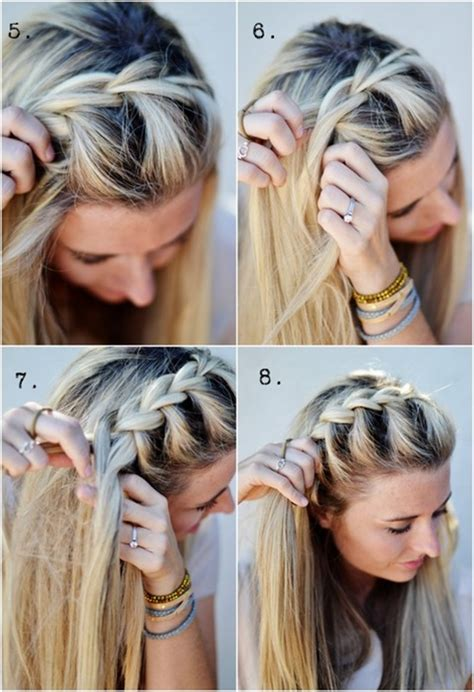 how to i french plait my own side hair diy half up side french braid hairstyle simple to follow