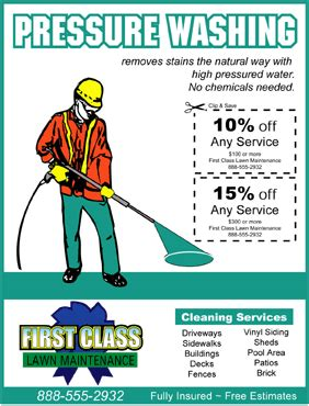 Pressure Washing Flyer Template