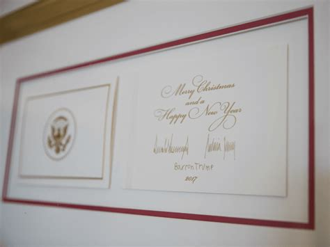 closely  trumps white house holiday cardtheres  word   surely