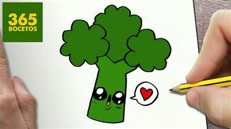 imagenes de verduras para dibujar a lapiz como dibujar brocoli kawaii paso a paso dibujos kawaii
