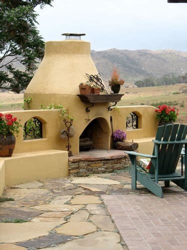 Mexican Outdoor Chimney Southwestern Outdoor Fireplaces Landscaping Network
