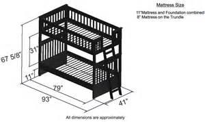 bunk bed dimensions discovery world furniture espresso bunk