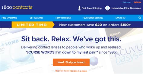 Here Are The Best Places To Order Your Contacts Online 1 800 Contacts Order