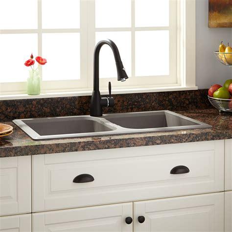 34 quot evart bowl drop in granite composite sink