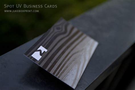 White Spot Gift Card - spot uv full colour premium business cards jukebox print