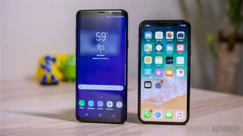 samsung galaxy s9 plus vs iphone x android authority