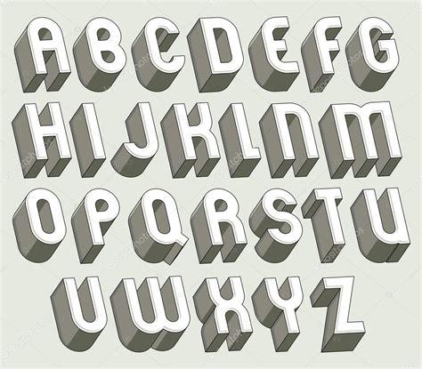 imagenes en 3d letras en negrilla y ajuste pesadas letras 3d vector de stock