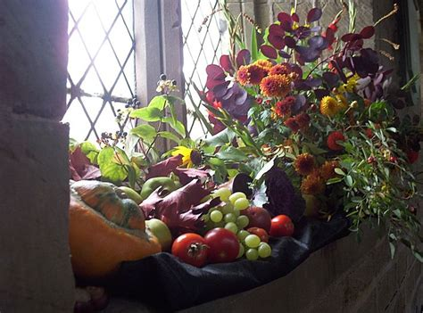 Harvest Windows Inspiration Harvest Festival A Lovely Arrangement In A Church Window Church Flowers Pinterest