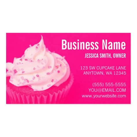 cupcake business card template bakery business card templates page46 bizcardstudio