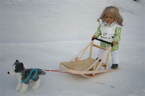 american doll puppy arts and crafts for your american doll sledding for american doll