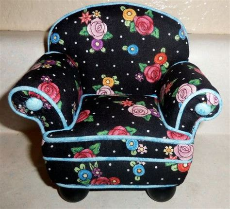 armchair pincushion mary engelbreit chair pin cushion with storage compartment