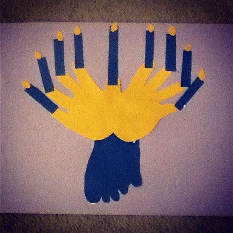 chanukah crafts for foot menorah toddler chanukah craft