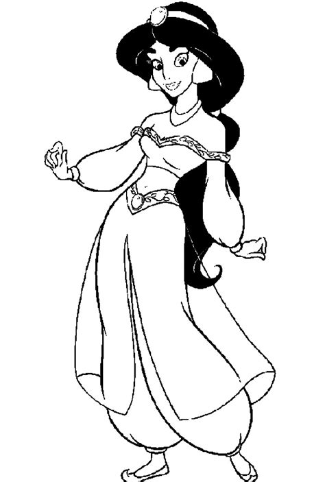coloring pictures of princess jasmine jasmine coloring pages only coloring pages