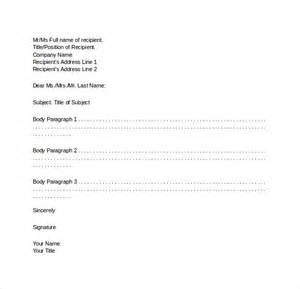 formal business letter format 19 free