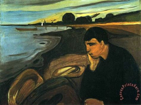 E Painting Meaning by Edvard Munch Melancholy Painting For Sale