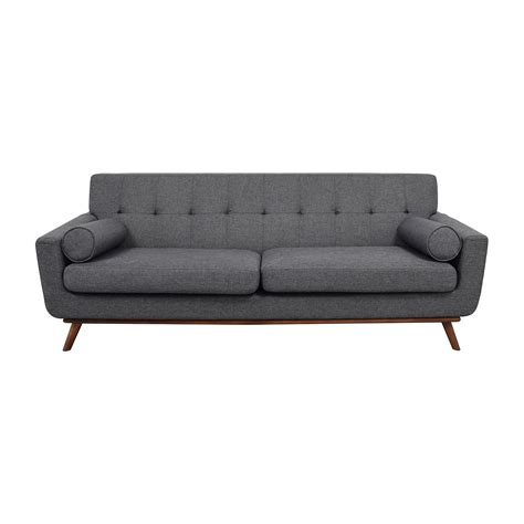 charcoal grey tufted sofa 69 crate and barrel crate barrel daybed