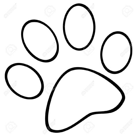 coloring pictures of dog paws pawprints free colouring pages