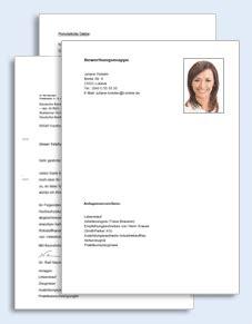 Bewerbungsfoto Einzelhandel Bewerbungs Paket Verk 228 Ufer Muster Zum