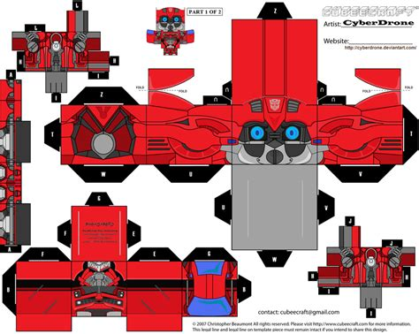 How To Make A Paper Transformer Bumblebee - cubee cliffjumper a by cyberdrone on deviantart