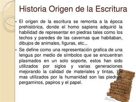 el origen de la origen de la escritura