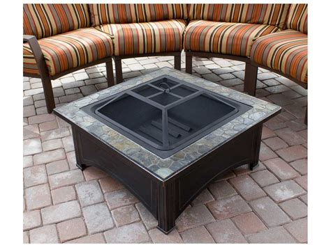 Wood Burning Patio Heaters Az Patio Heaters 36 Slate Top Wood Burning Firepit Azft51133d
