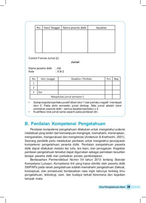 format menganalisis jurnal buku guru ipa kelas 8