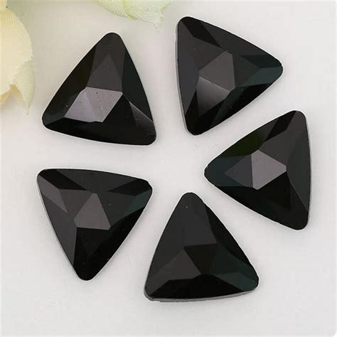 1000pcs V Cut Point Back Ab Rhinestone Permata 14mm black onyx glass triangle pointback chatons