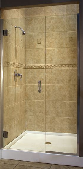 Polycarbonate Shower Door Trufit Series Tru1 3 8 Glass C Pull Polycarbonate Semi Frameless