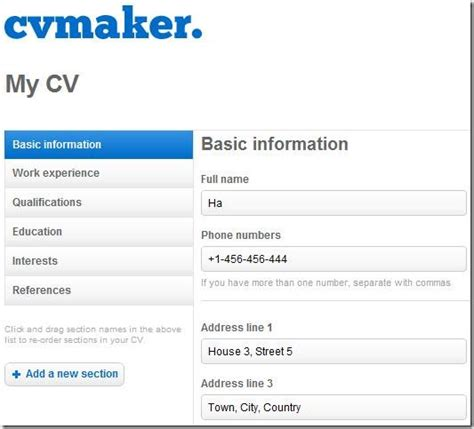 Make My Cv by Cvmaker Make A Cv For Free As Pdf