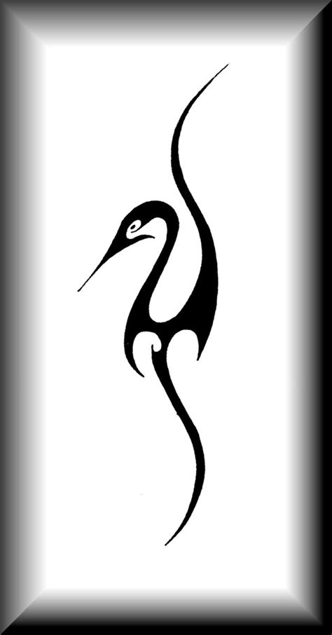 heron tattoo designs tribal heron by joharasaluki on deviantart