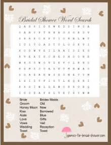 free printable word search for bridal shower