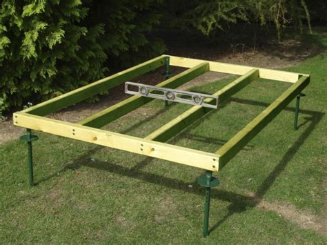 Wood Shed Base by How To Make A 6x4 Shed Base Gabret