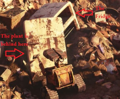 wall e how can a plant grow in a refrigerator movies