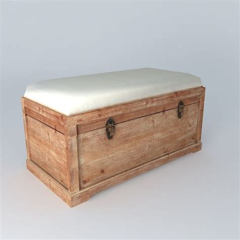 bench chest furniture bench chest 3d model max obj 3ds fbx stl skp