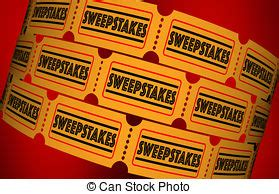 Sweepstakes Lottery - chance word tickets raffle lottery drawing odds enter to stock illustrations