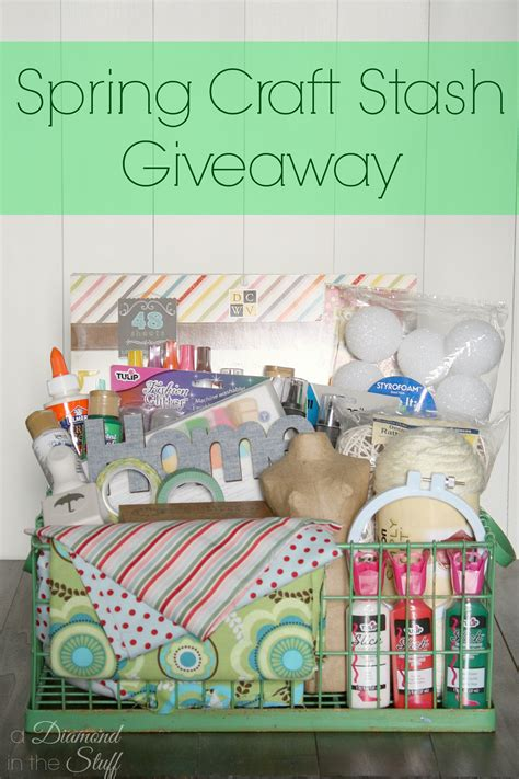 Craft Giveaway - spring craft stash giveaway