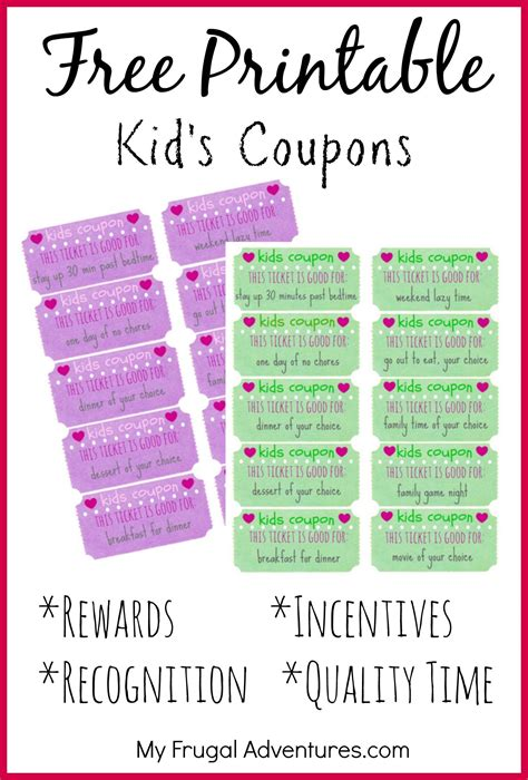 free printable job tickets children s gift idea free printable reward tickets the