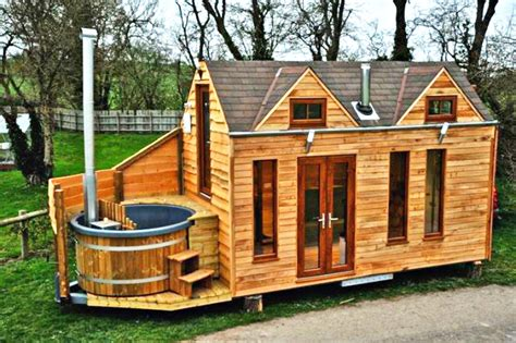 design your own tiny house with wood material look natural and cheap cost needed tiny house design tinywood homes come with their own hot tubs in the uk