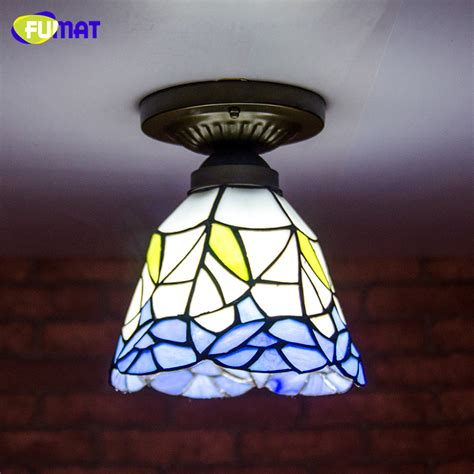 Stained Glass Ceiling Light Fixtures Fumat Stained Glass Ceiling L European Church Corridor Magnolia Etched Glass Indoor Light