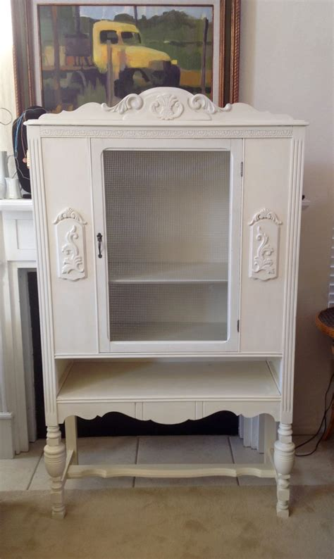small antique china cabinet small antique white china cabinet local only