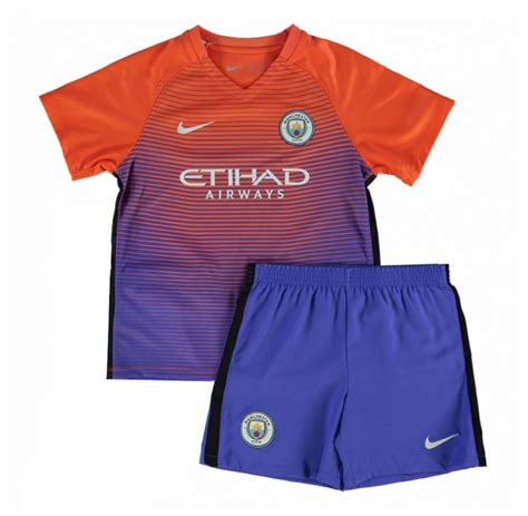 City Home 1617 Kun Aguero Patch 16 17 manchester city third away purple children s jersey