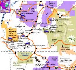 Pics photos road maps of southern utah