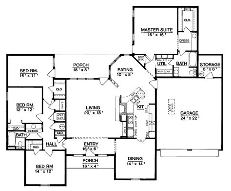 One Level House Plans by Superb Single Level Home Plans 6 One Level House Plan