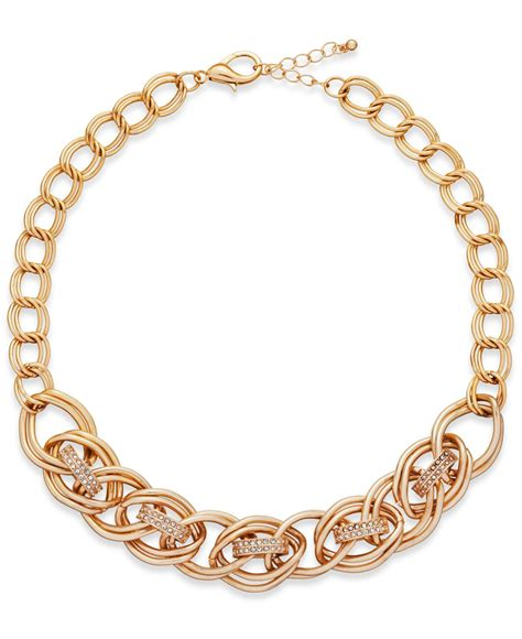 inc international concepts gold tone pav 233 circle link
