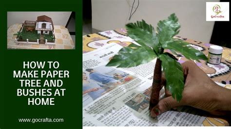 How To Make Paper Bushes - how to make paper tree paper palm tree bushes school
